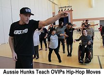 Aussie Hunks teach OVIPS hip-hop moves