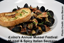 d.vino Mussel and Spicy Italian Sausage