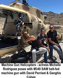 Machine Gun Helicopters Michelle Rodriguez, David Perriset and Genghis Cohen