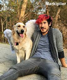 Markiplier with dog