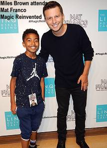 Mat Franco and Miles Brown