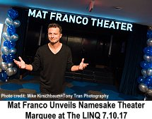 Mat Franco unveils namesake theater marquee at the LINQ 7-10-17