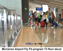 McCarran Airport Fly Fit program floor decal