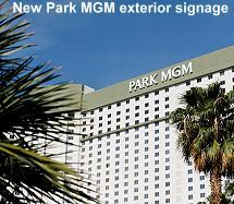 Park MGM New exterior signage